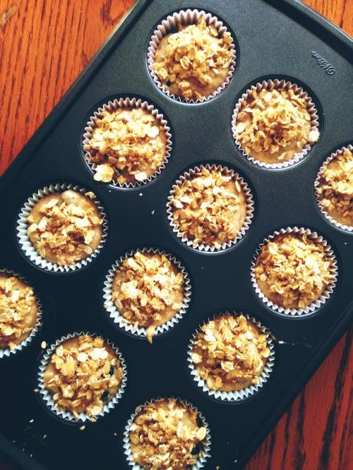 Muffins de Avena, Banano y Arandanos3