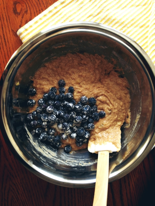 Muffins de Avena, Banano y Arandanos7