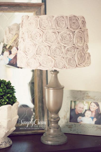 Shabby chic lampshade