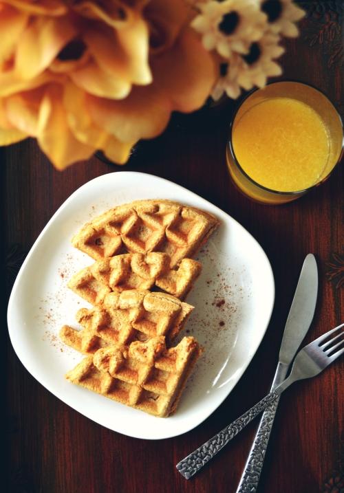 Waffles de Pastel de Zanahoria
