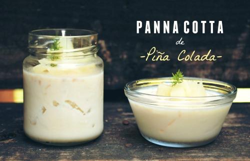Panna cotta de Pina Colada cover